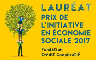 Lauréat prix de l'initiative en économie sociale