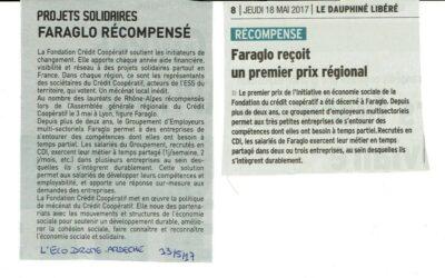 Faraglo reçoit un premier prix régional
